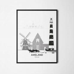 Aanzichtkaart Ameland