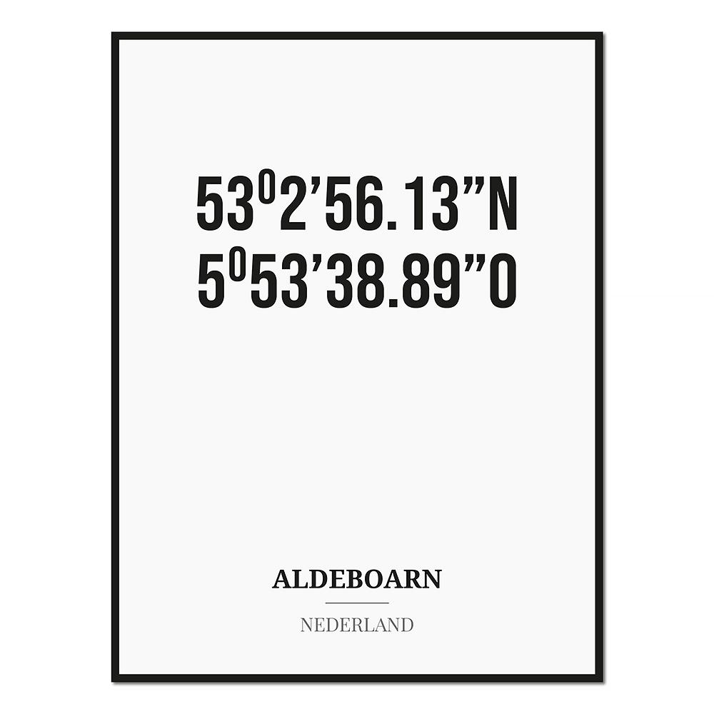 Poster/kaart ALDEBOARN met coördinaten
